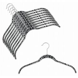 """SlimLine """"Zebra"""" Shirt Hanger"""