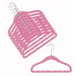 "SlimLine ""Pink Hearts"" Kids Hanger"