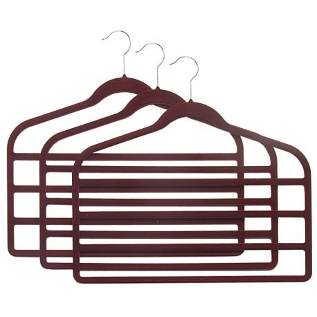 SlimLine Burgundy Multi Pant Hanger