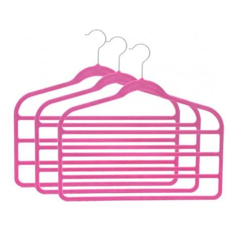 SlimLine Hot Pink Multi Pant Hanger